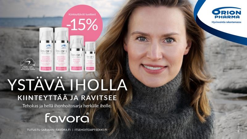 Favora ihonhoitosarja lokakuun ajan -15%