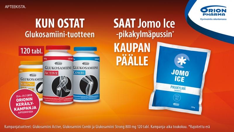 Osta Glukosamiini saat Jomo Ice kylmäpussin kaupan päälle