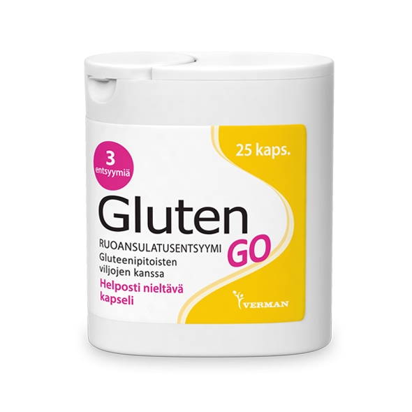 Gluten GO 25 kaps 12,90 € (norm. 14,90 €)
