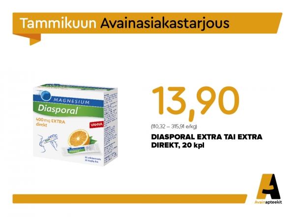 Diasporal Extra tai Extra Direct, 20 kpl