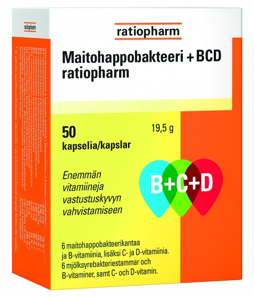 Maitohappobakteeri B+C+D 12,90 € (norm. 16 €) 50 kaps