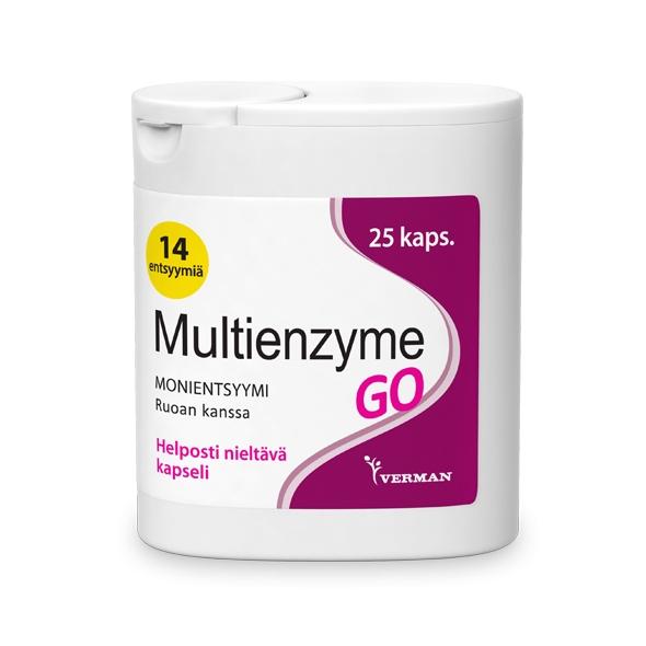 Multienzyme GO 25 kaps 12,90 € (norm. 14,90 €)