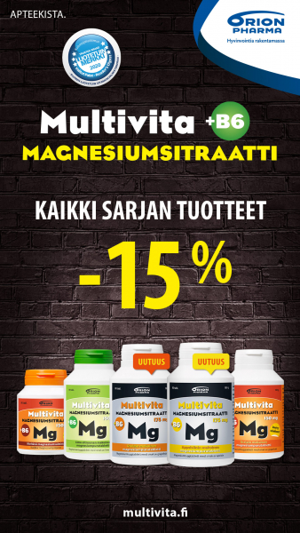 Kaikki Multivita Magnesiumsitraatit -15 %