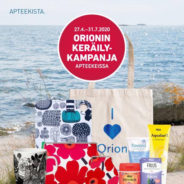 Orionin keräilykampanja on käynnissä!