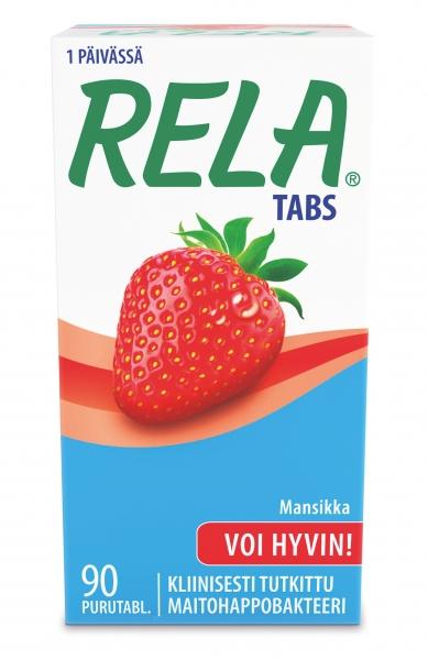Rela Tabs 90 tablettia 33,90 € (norm. 37,20) maut mansikka, sitruuna tai omena