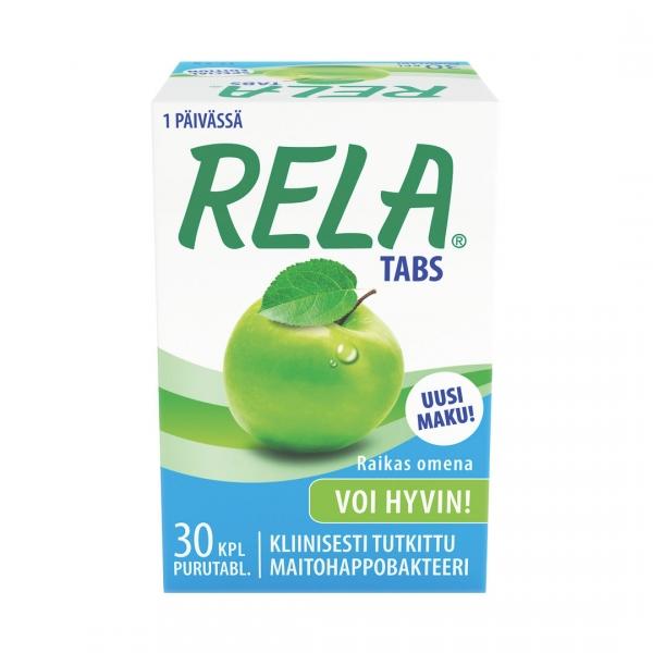 Rela Tabs mansikka, sitruuna tai omena 30 tabl. 12,90 € (norm. 15,76 €)