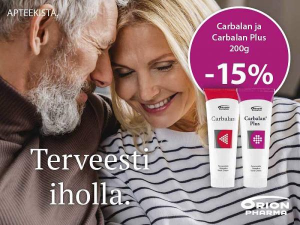 Carbalan ja Carbalan Plus 200 g -15 %