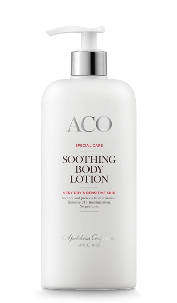 Aco soothing body lotion 400 ml 13,57 € (norm. 16,97 €)