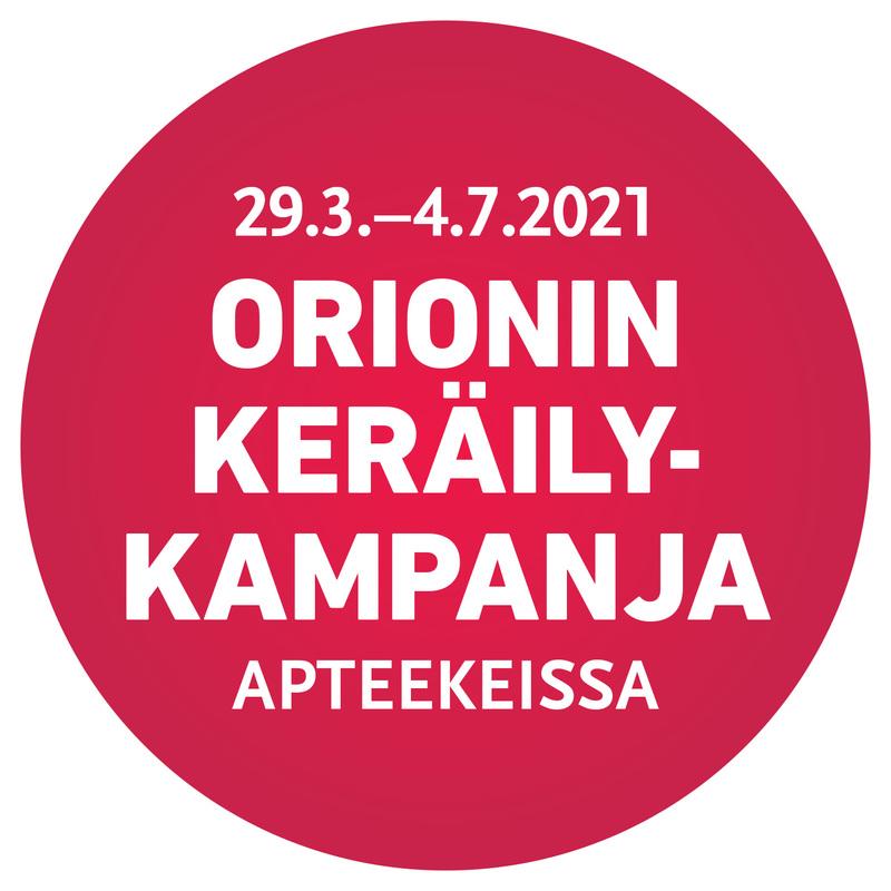Orionin keräilykampanja on jälleen käynnissä!