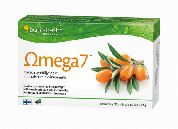 Omega 7 tyrniöljykapseli 90 kpl 34,90 € (norm. 40,64 €)